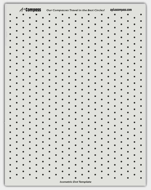 Isometric Dot Drawings Isometric Dot Template