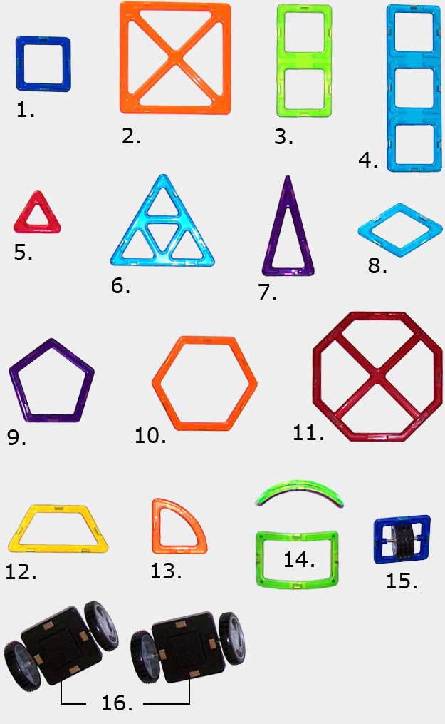 Available Magformers Shapes